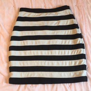 Body con striped Express skirt